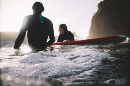 friends people girl guy surfing