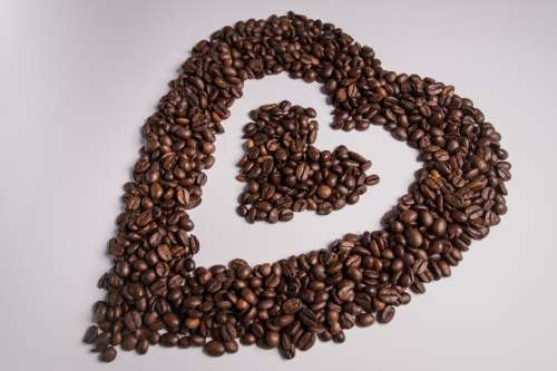 coffee beans love heart loveheart