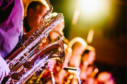 band music musical instruments saxophones horns