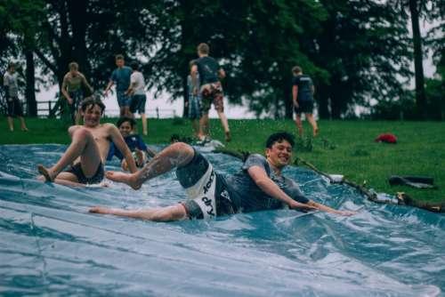 water slide people guys men