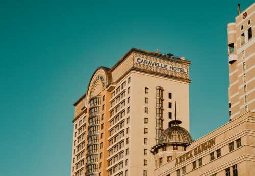 hotel minimal blue sky architecture