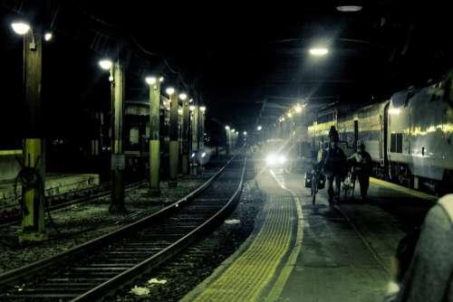 city railway rail train station