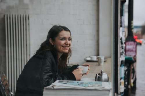 people woman beauty smile coffee