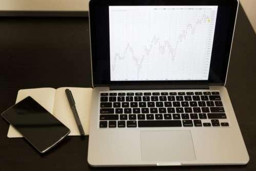 charts graphs data finance macbook