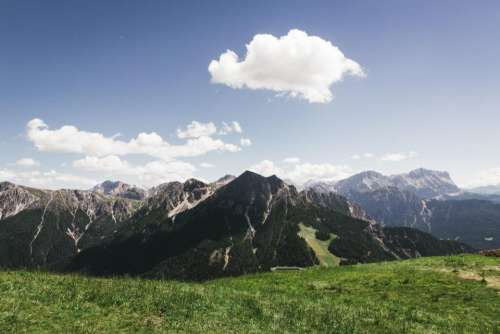 nature landscape grass mountain hill