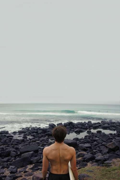 surfer surfing surfboard guy man