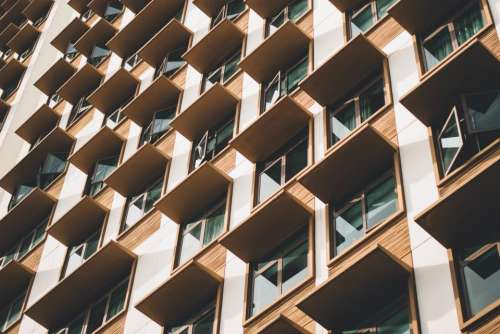 window glass hotel condominium building