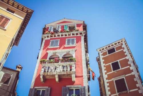 building architecture blue sky apartment