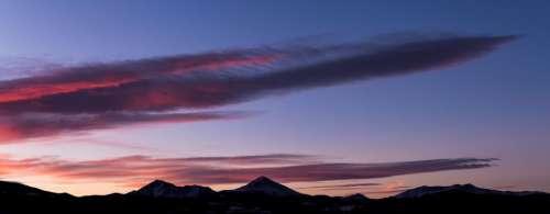 mountain highland landscape dark clouds