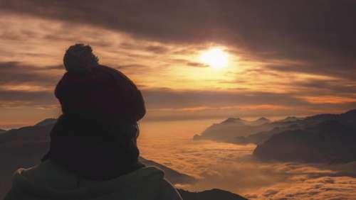 mountain highland summit peak valley