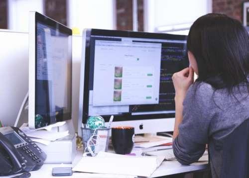 coding programming working mac monitors