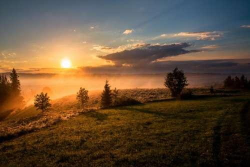 clouds sky sunset sunrise sunlight