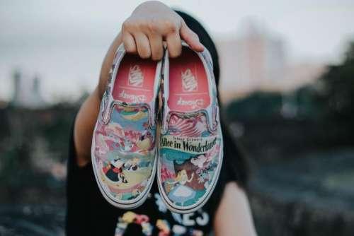 shoe footwear travel blur people