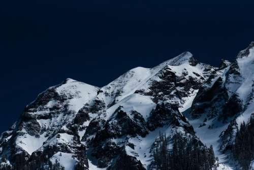 nature landscape mountains summit peaks