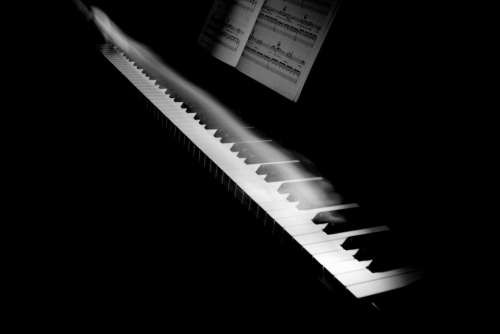 music instrument piano keys motion