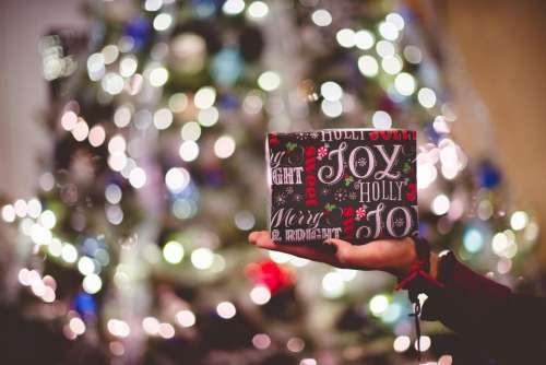 christmas decoration lights tree gift