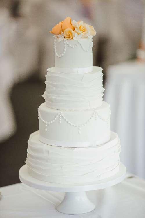 cake wedding white tiered love