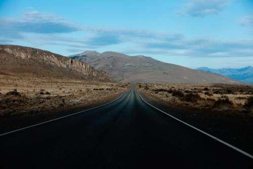 rural road countryside desert highway
