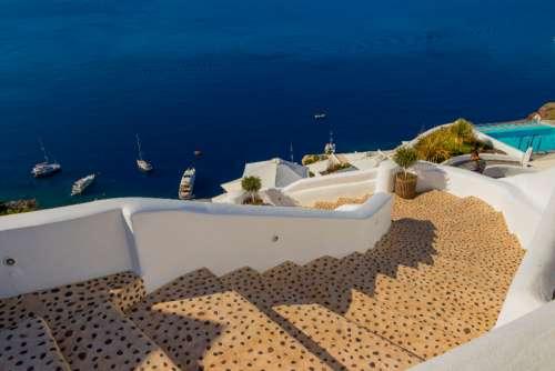 Santorini Greece amazing view steps