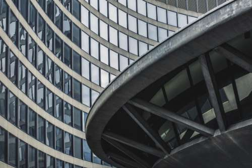 curved building windows architecture glass