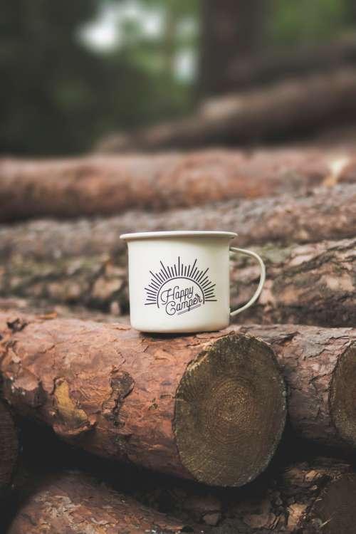 happy camper mug cup drink