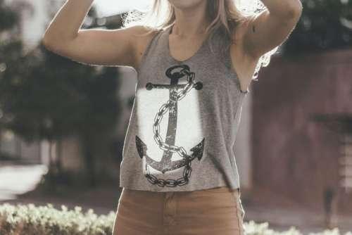 people woman sando anchor summer