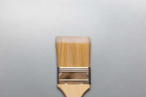 paint brush flat lay gradient background