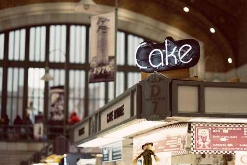 cake dessert bakeshop menu blur