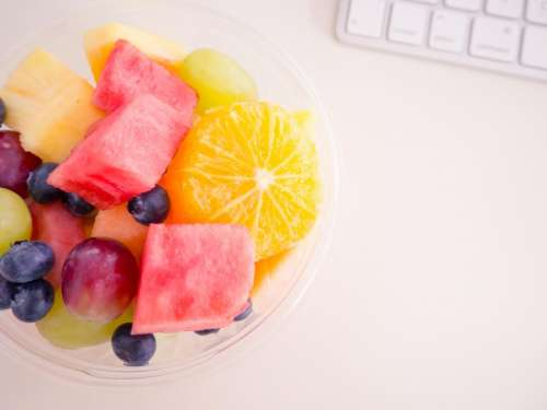 fruits watermelon pineapple grapes orange