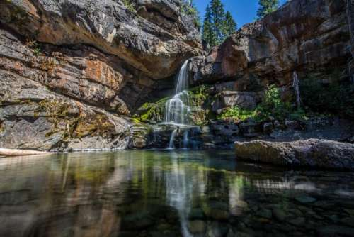 nature landscape mountains cliff rocks