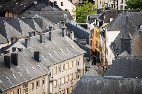 luxembourg houses homes apartments rooftops