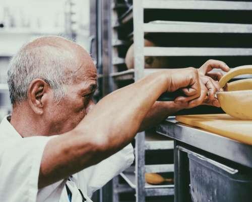 people man old baker restaurant