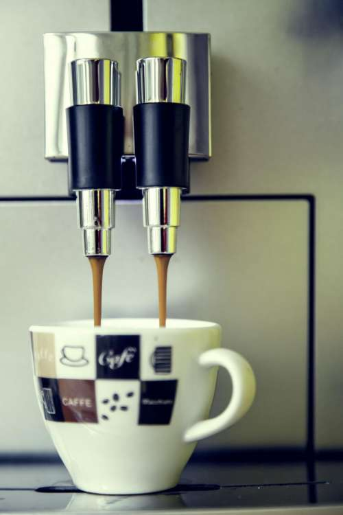 espresso machine coffee drink white