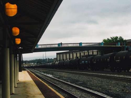 railroad railway train station transportation