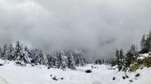 snow winter mountain hills landscape