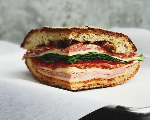 ham burger sandwich food bread