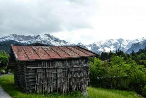 cabin hut wood landscape nature