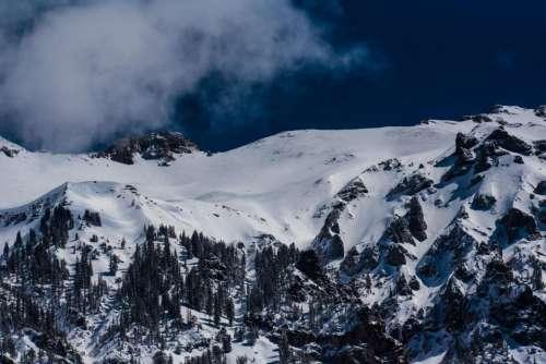snow winter cold mountain cliff