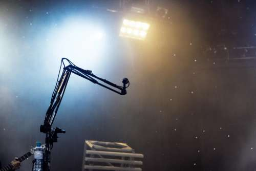microphone music concert stage spotlight