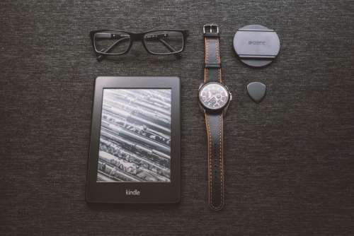 kindle e-reader technology objects watch