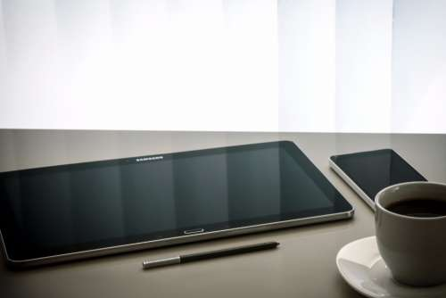 tablet samsung stylus desk office