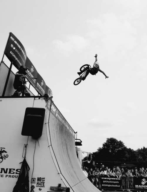 bmx stunt ramp speed sport