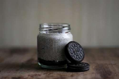 glass jar cookie powder biscuit