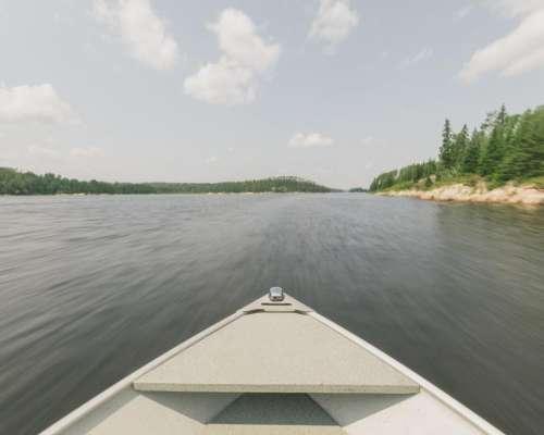 boat canoe lake river water
