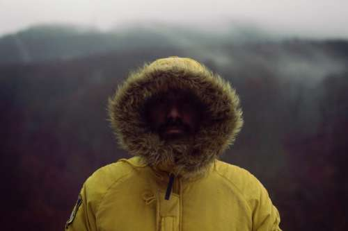 people man guy beard winter
