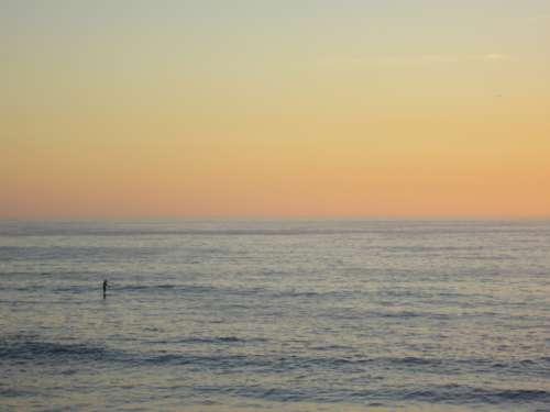 surfer ocean sunset person sport