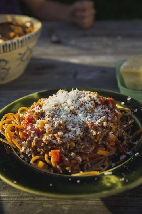 food pasta spaghetti snack plate