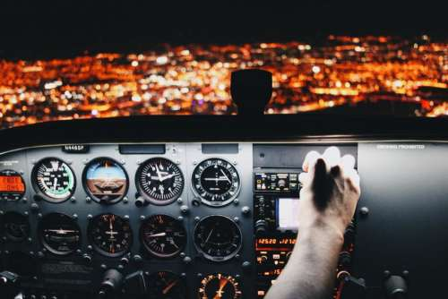airplane airline aircraft travel trip