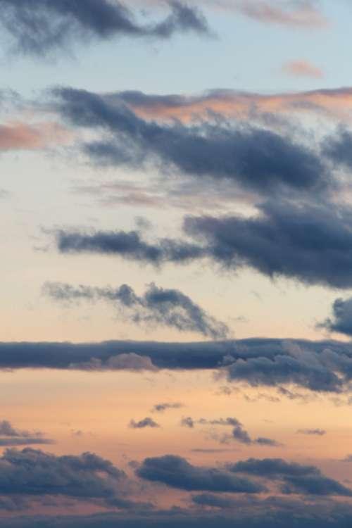 pastel clouds dusk sunset sky