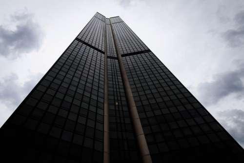 tower city building skyscraper windows
